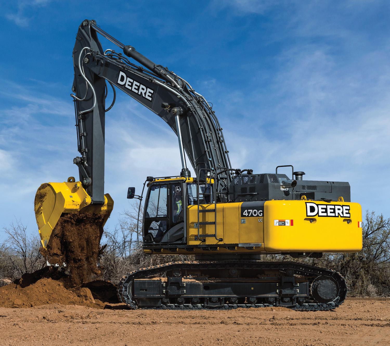 John Deere Upgrades 470g Lc Excavator With New Engine