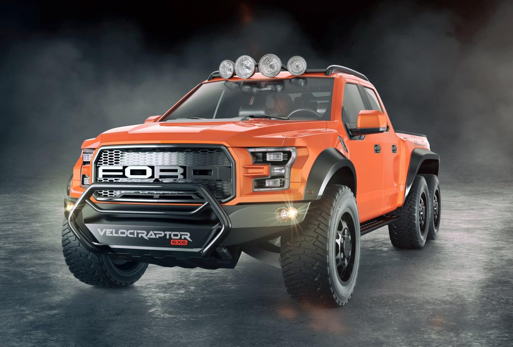 Hennessey Unveils 600 Hp 6 Wheel 2017 Ford Velociraptor