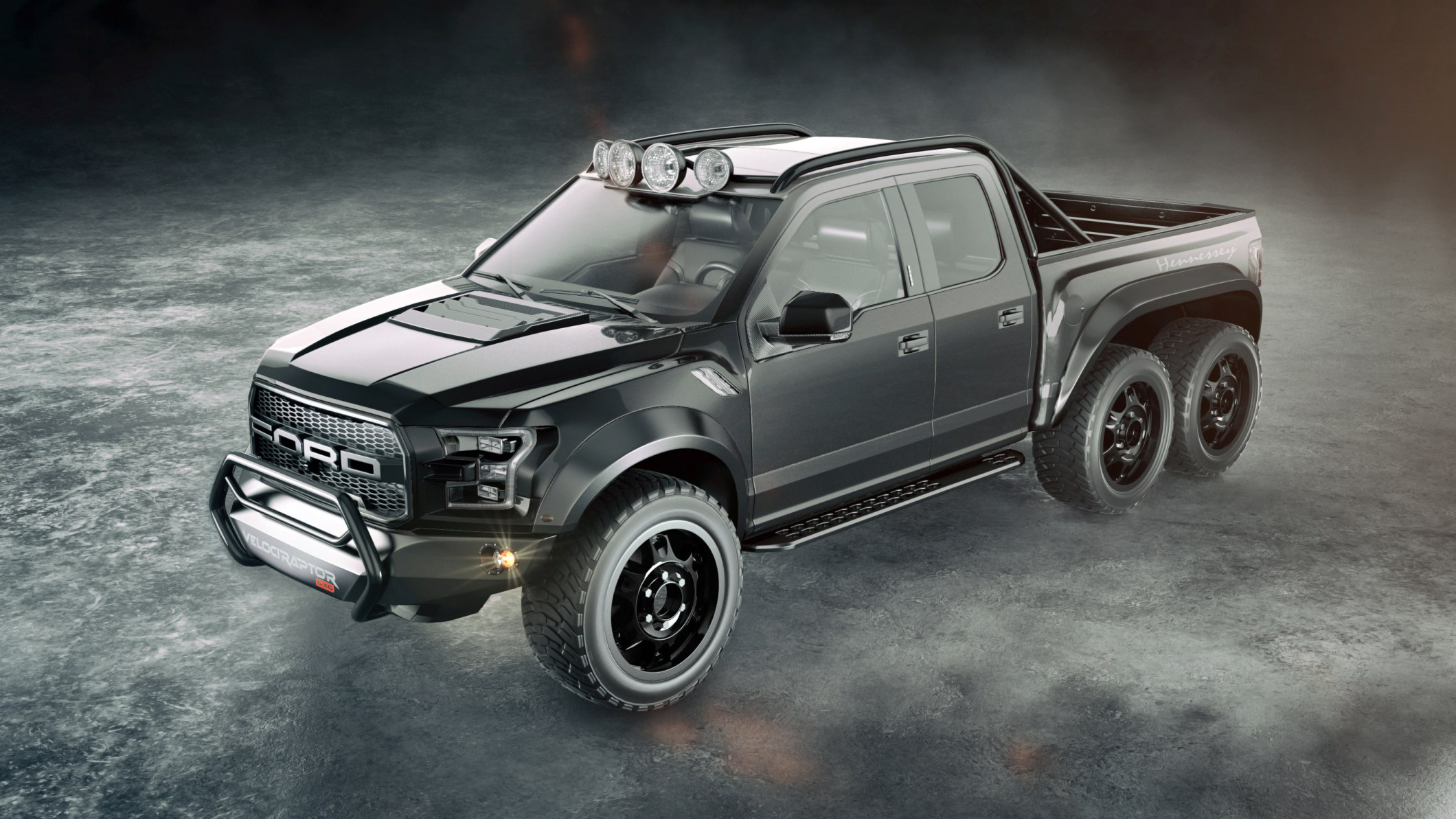 sema muscle a powerful new truck ford s inside hp las convention booth automaker the trucks by rtr vaughn f center vegas massive designed gittin unveils tuesday debuted
