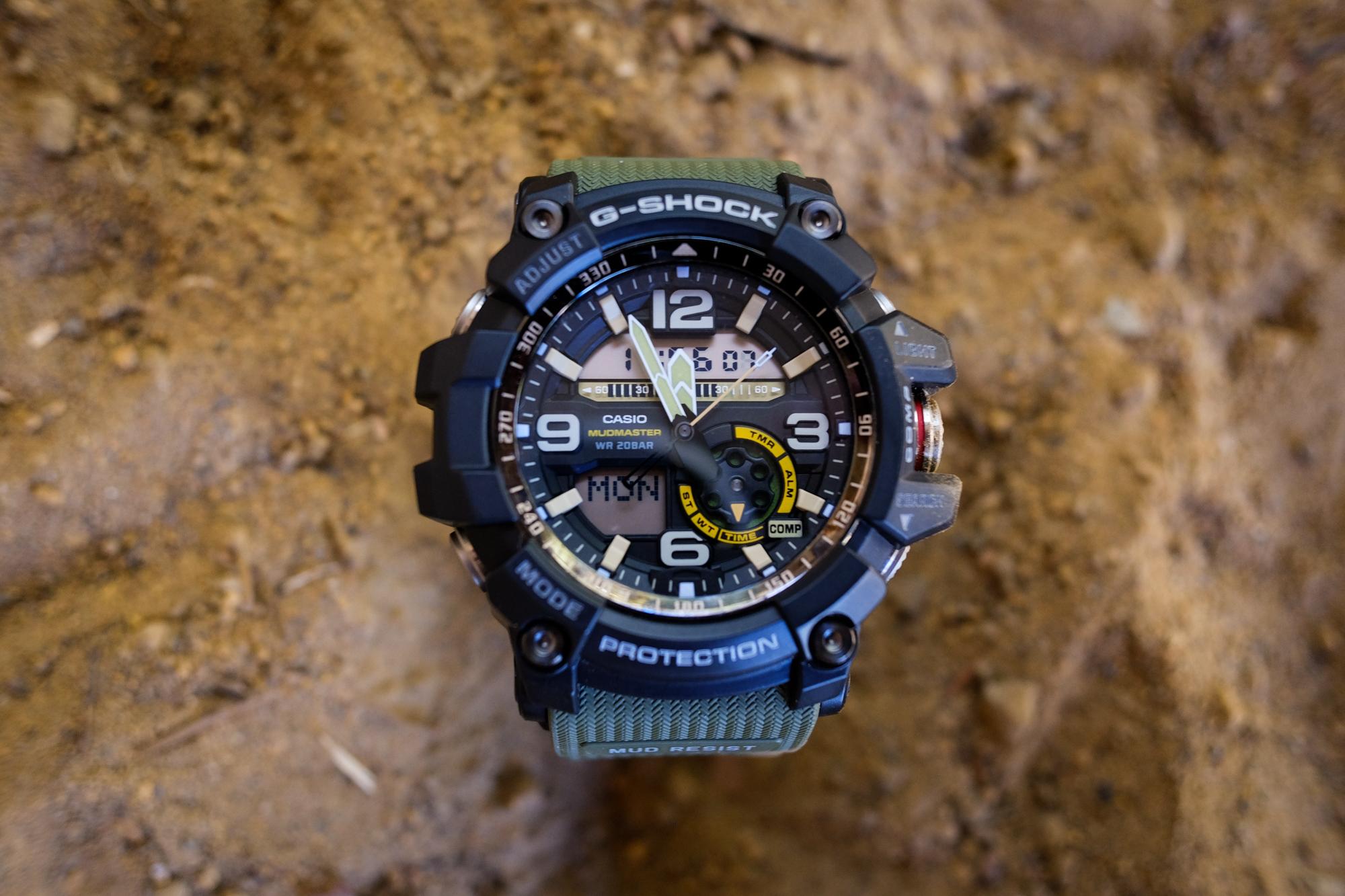 Review Casios Mudmaster Gg 1000 A G Shock Watch Designed To Casio Ga 1adr Gravity Master Twin Sensor 10004