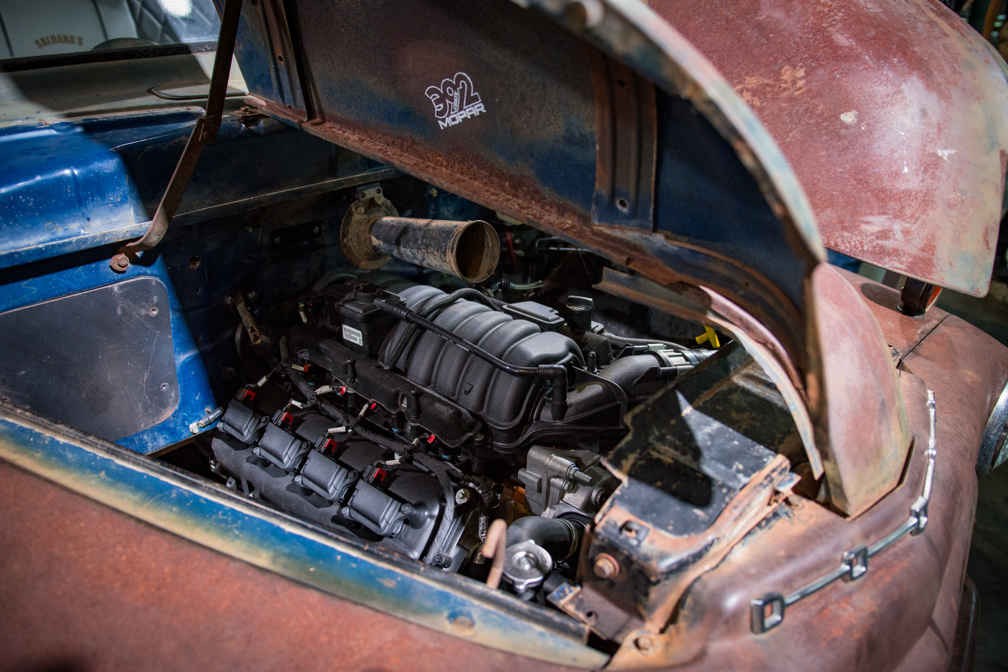 1950 Dodge D100 Gets A Hemi Rebirth Thanks To Mopars New Crate Truck Wiring Harness Engine Kit2