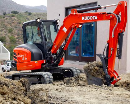 kubota kx040 compact excavator