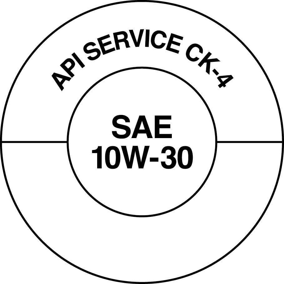 API developed two visually different API Service Symbol Donuts so that consumers can easily distinguish between the two categories. The API CK-4 (above) Donut will look the same as the current CJ-4 Donut.