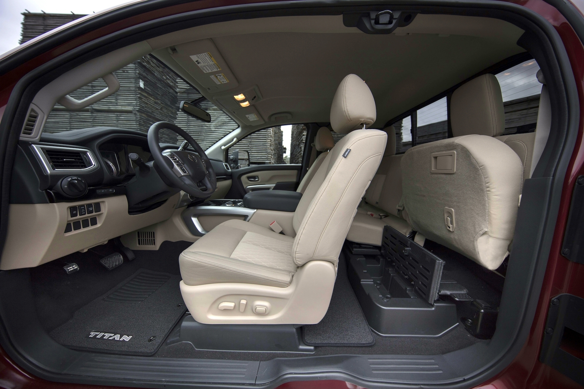 titan nissan cab king interior side xd crew sv seat rear front extended seats delete truck adds pickups cabs kings