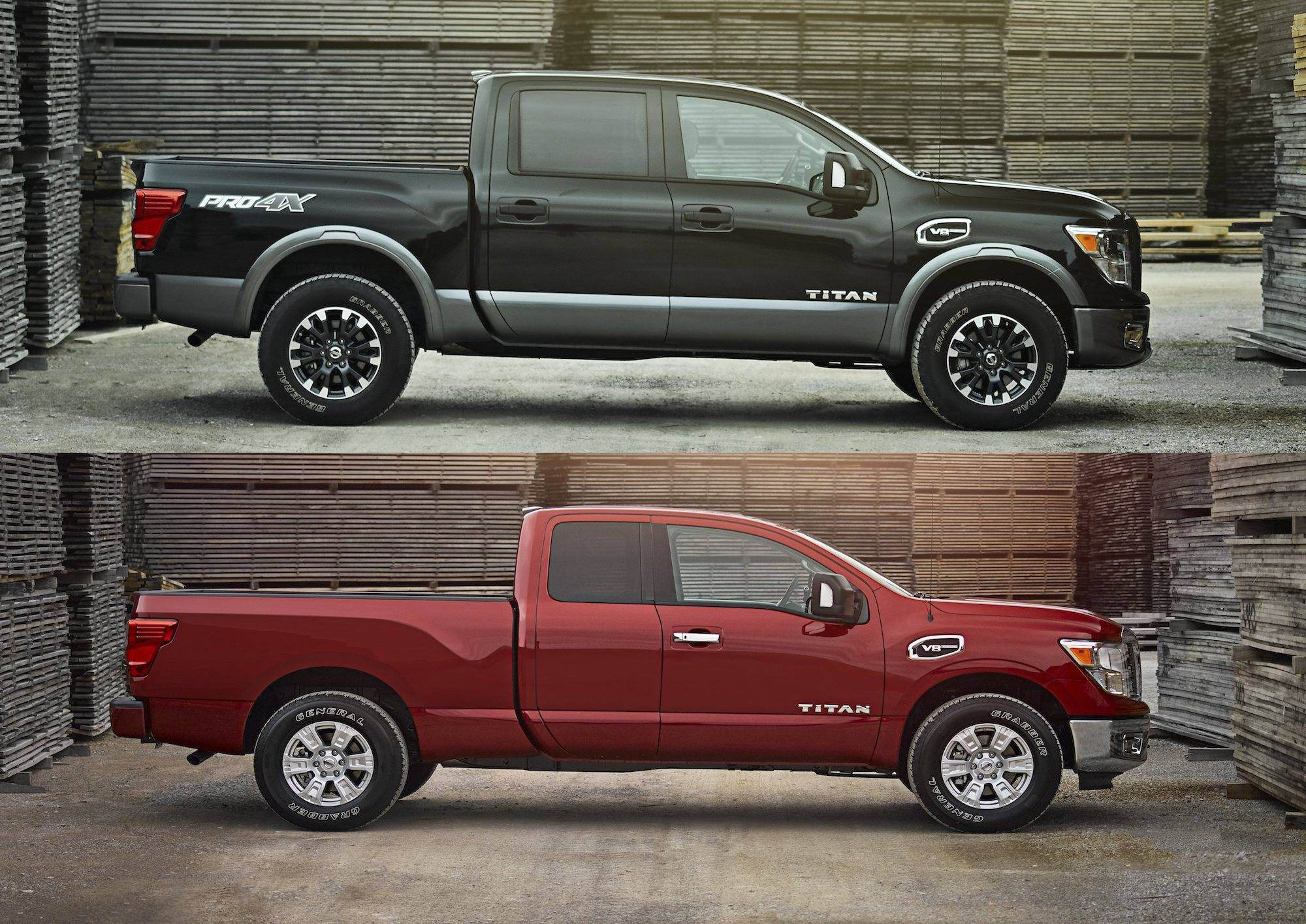 nissan intros titan titan xd king cab with rear seat. Black Bedroom Furniture Sets. Home Design Ideas