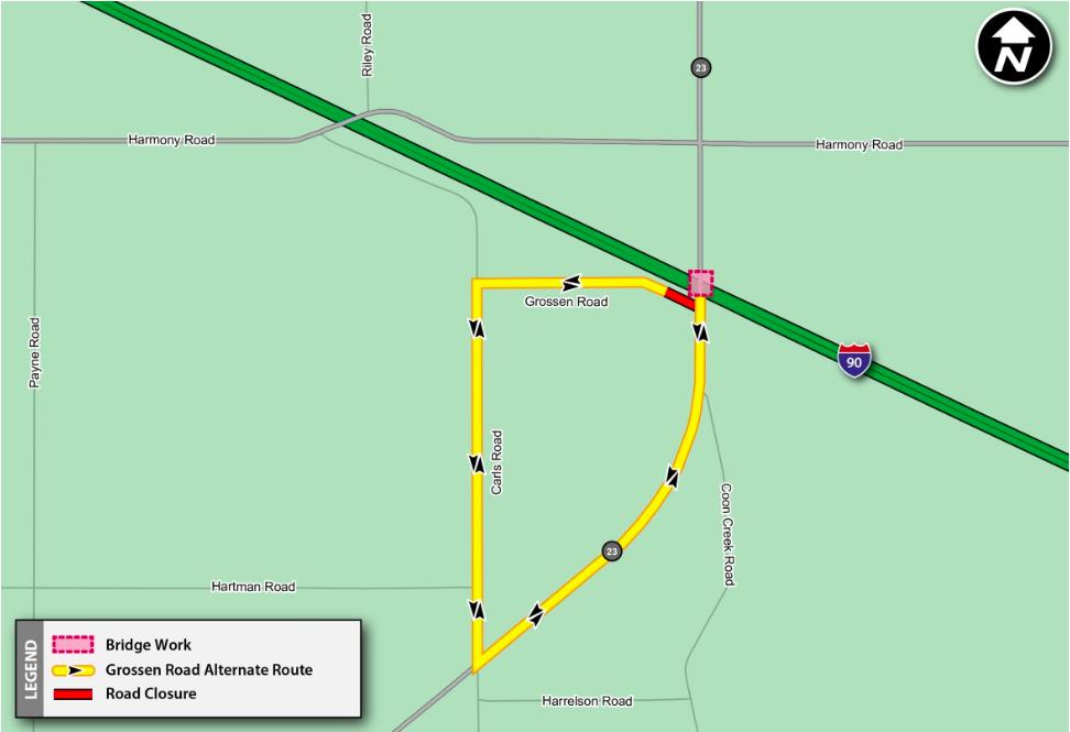 Tollway Illinois Map.Illinois Tollway Begins Work On Route 23 Bridge On Jane Addams