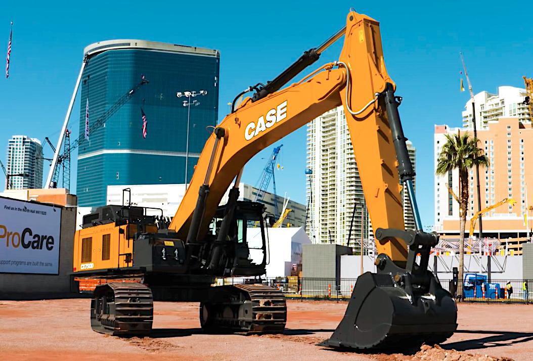 Case Unveils Cx750d New Model Design Is Its Largest Most Powerful Excavator