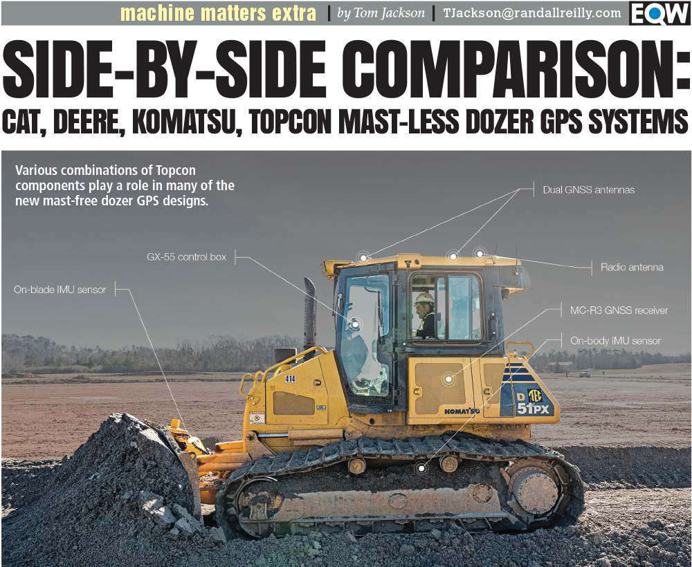 Side-By-Side: Comparing Cat, Deere, Komatsu and Topcon mast