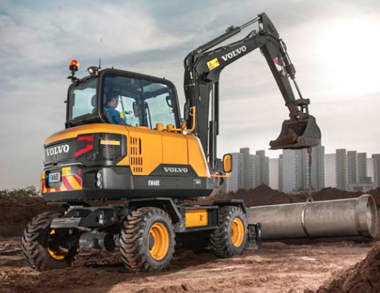 Volvo Intros Ew60e Wheeled Excavator With Power Cab