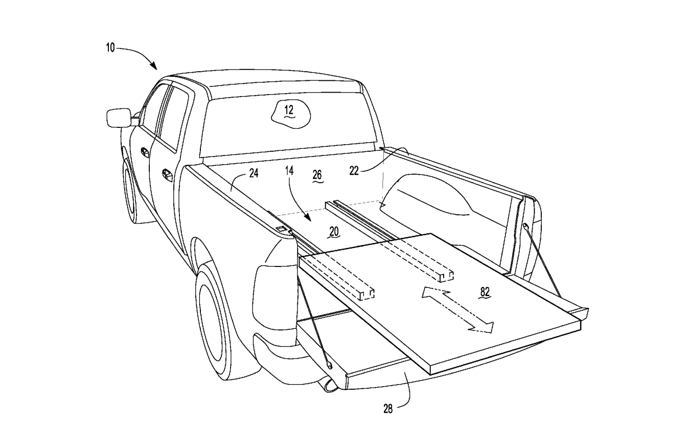 ford files patent for sliding pickup bed