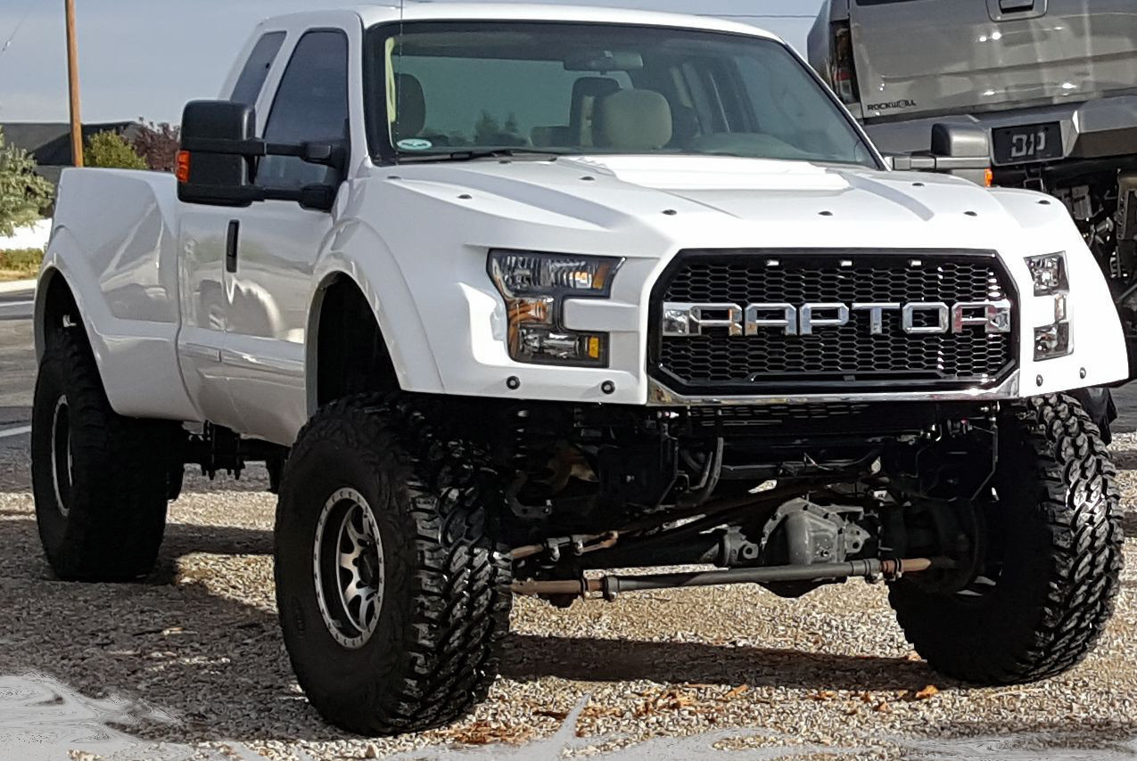 A Ford Super Duty Pickup Converted By Fr Into A Superraptor Riding On  Inch Tires