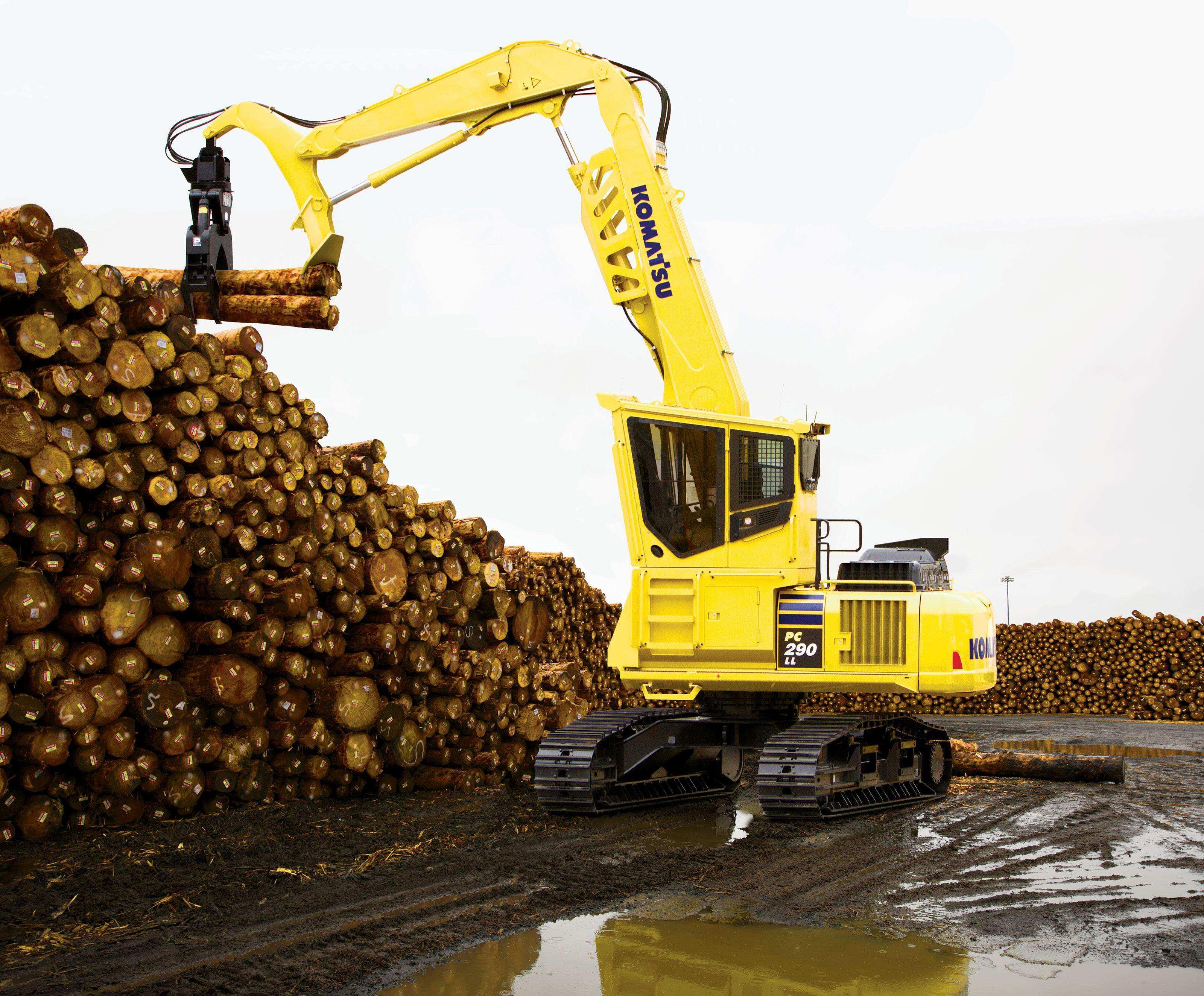 komatsu intros pc290ll 11 log loader road builder with new high