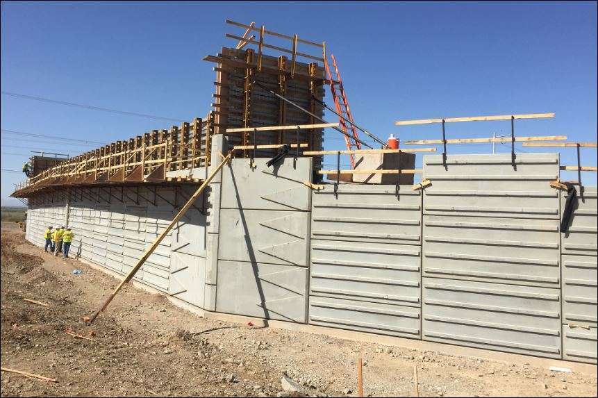 Mse Wall Construction : Arizona dot s first highway p delivering south mountain