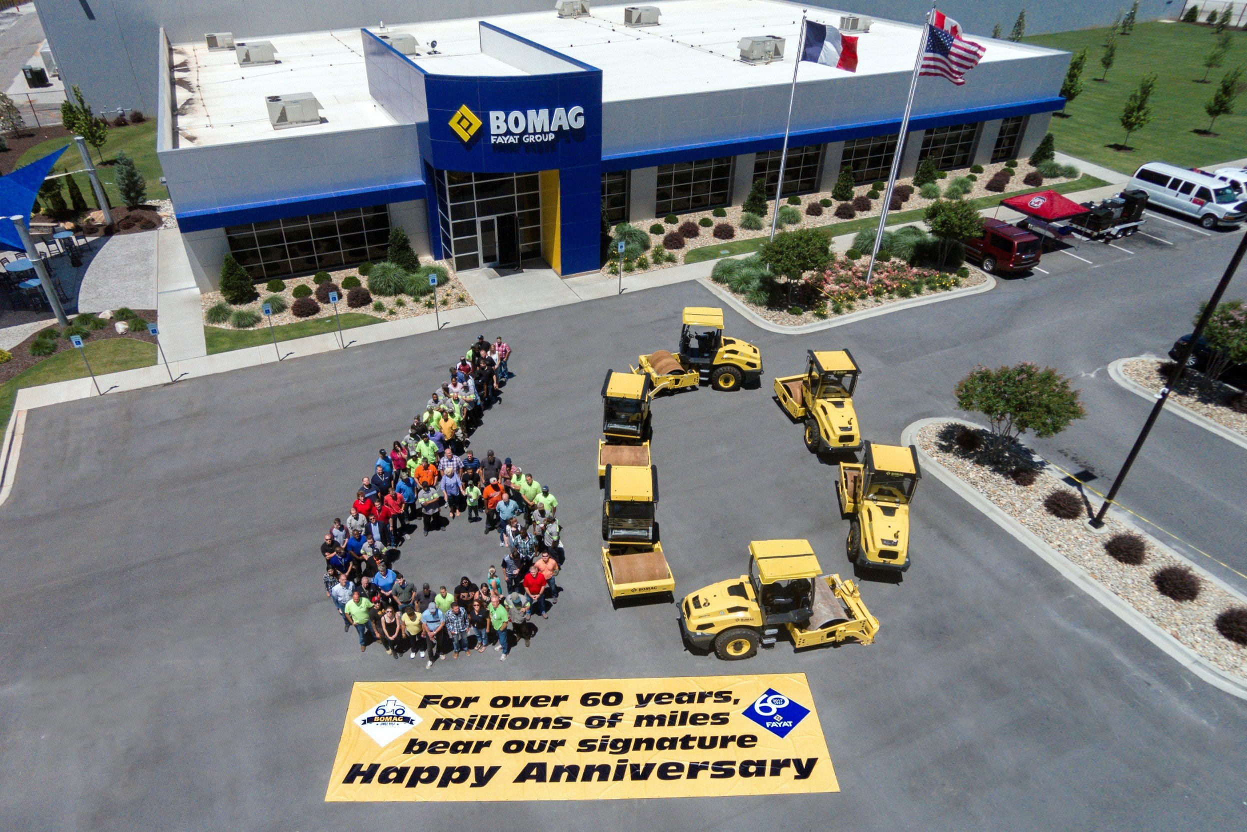 Bomag marks 60 years as a supplier to road construction for Soil 60 years