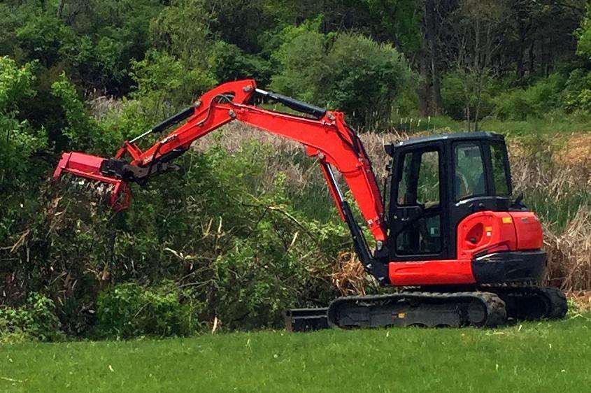 Fecon Intros Fmx36 Fmx50 Excavator Bull Hog Mulching