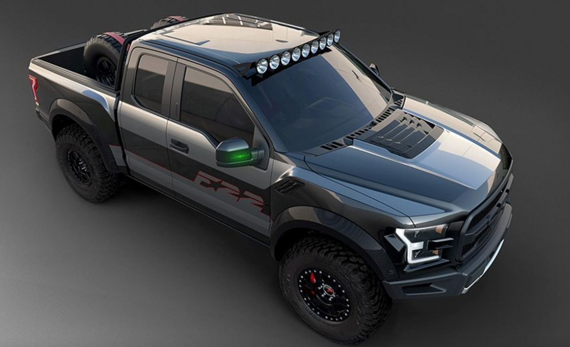 ford unveils one of a kind f 22 raptor with 545 hp. Black Bedroom Furniture Sets. Home Design Ideas