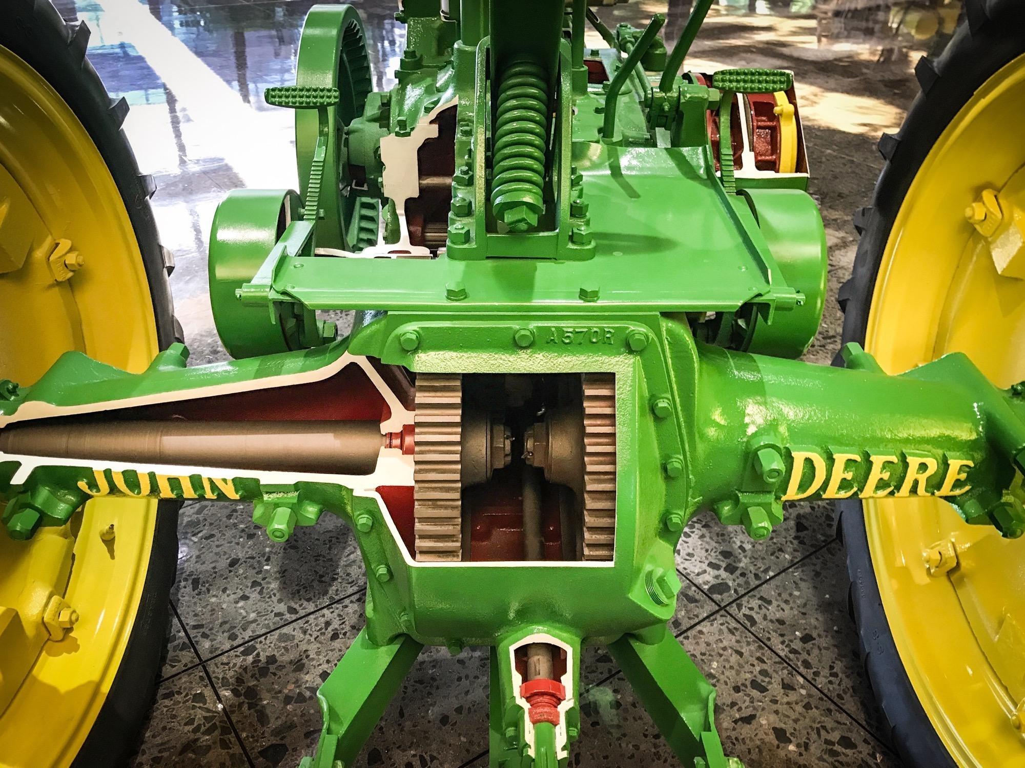 The Oldest John Deere : Photos classic american machines on display at john deere