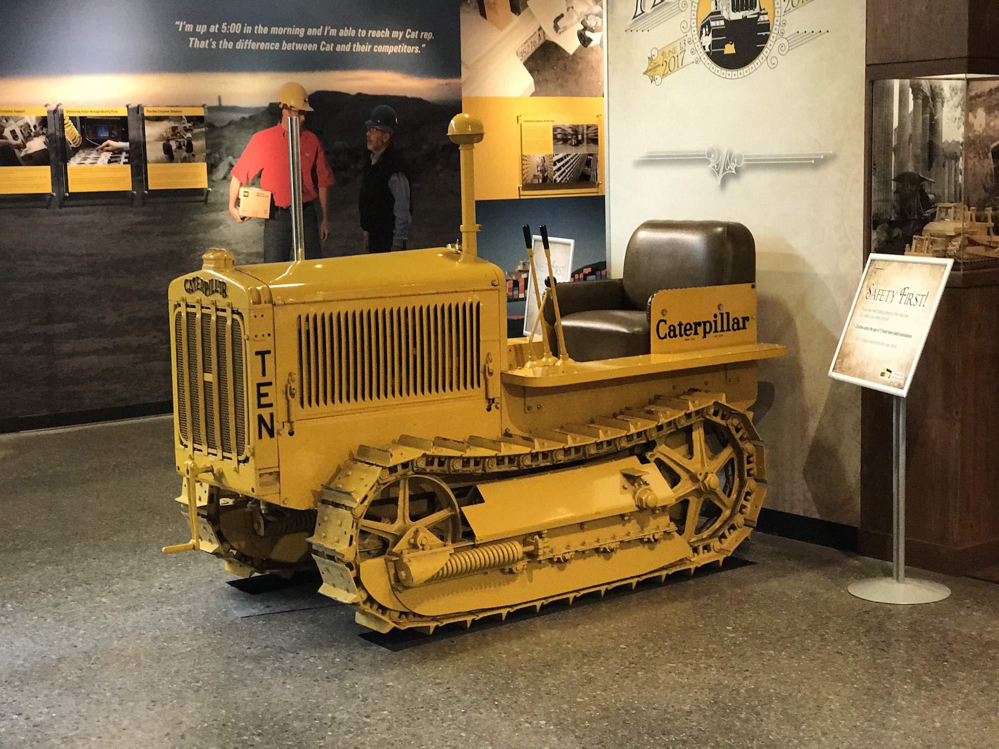 PHOTOS: Cat displays contractor's amazing antique machine