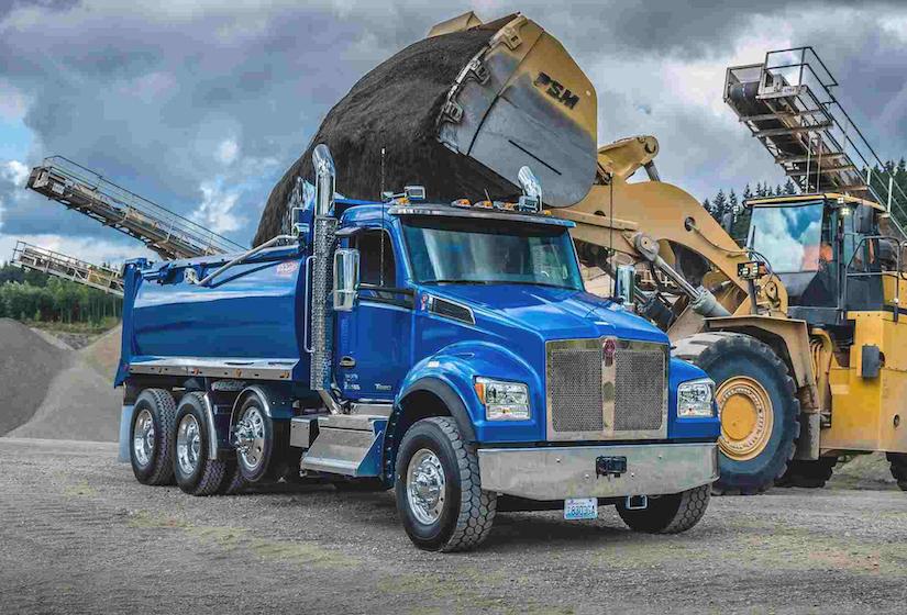 Blue Kenworth T880S Dump Truck