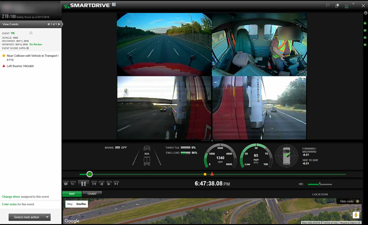 SmartDrive 360 puts eyes in the back of truck drivers' heads