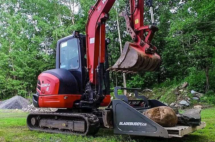 Video Blade Buddy Bucket Gives Excavators Skid Steer Abilities