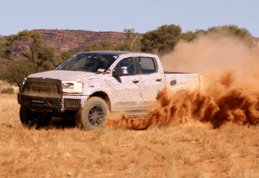 video raptor ranger confirmed in off road test run by ford australia. Black Bedroom Furniture Sets. Home Design Ideas