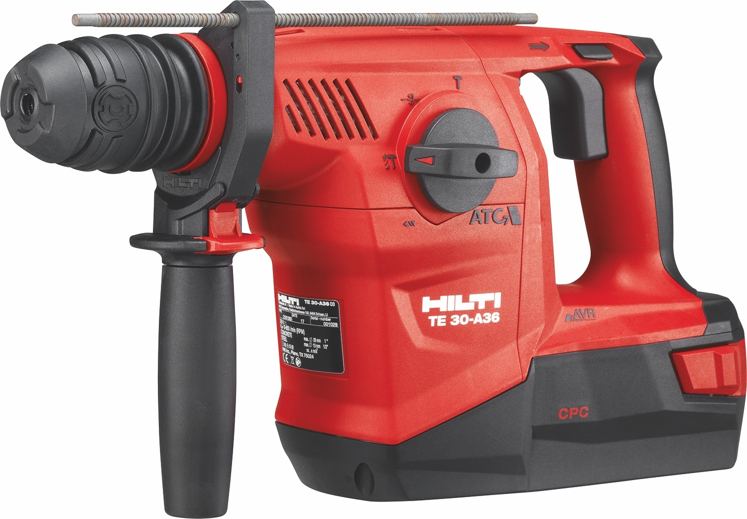 hilti unveils high efficiency te 30 a36 te 6 a36 cordless. Black Bedroom Furniture Sets. Home Design Ideas