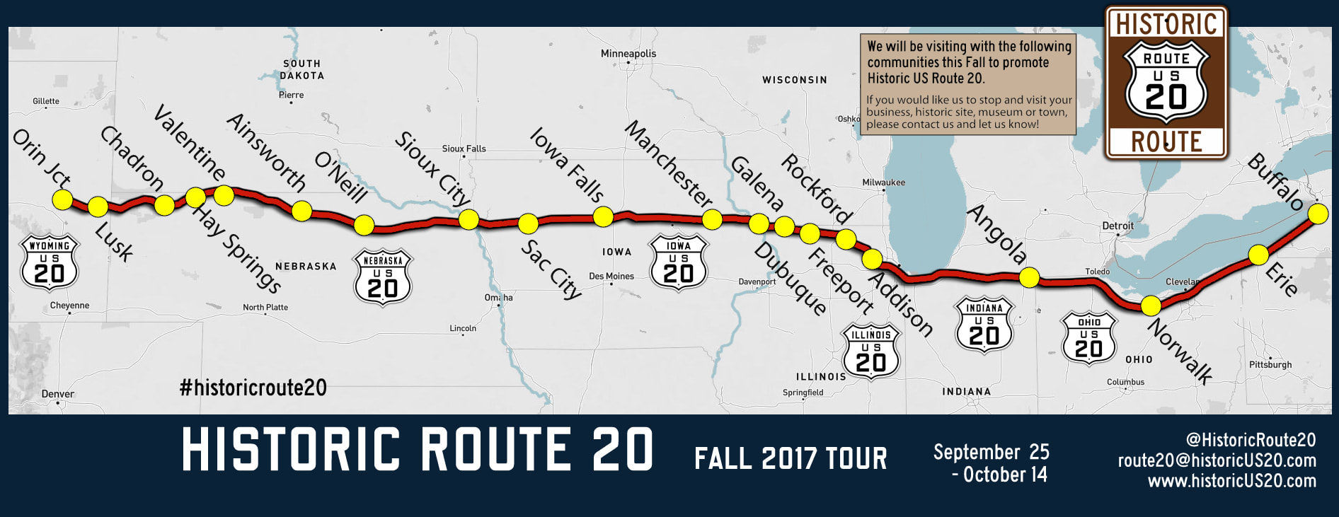a nonprofit organization hopes to designate the original 1926 alignment of highway 20 in iowa between dubuque and sioux city and is calling on local