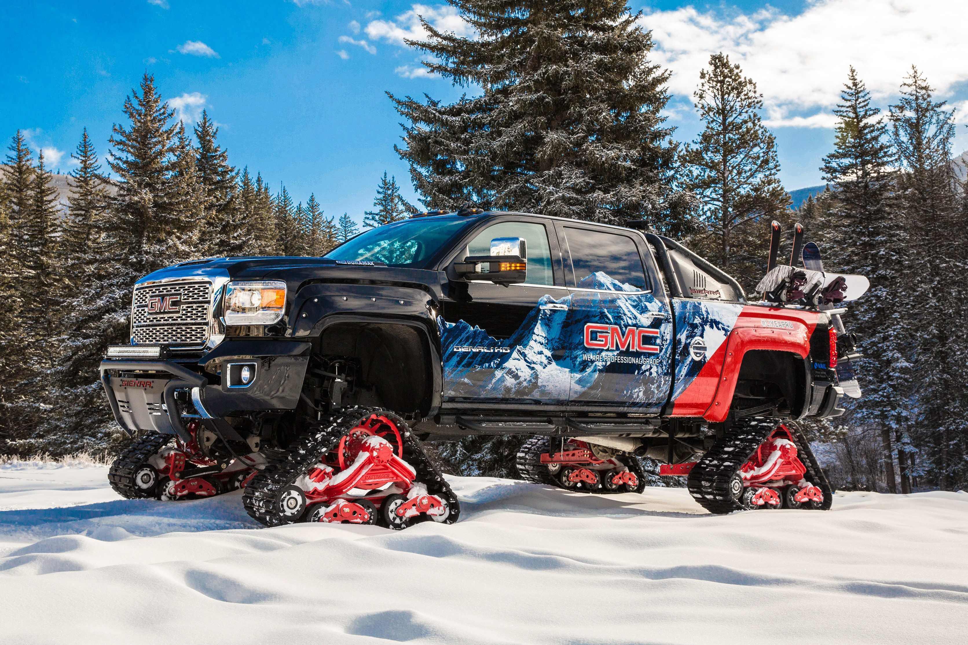 GMC unveils Sierra 2500HD All Mountain: A Denali with tracks