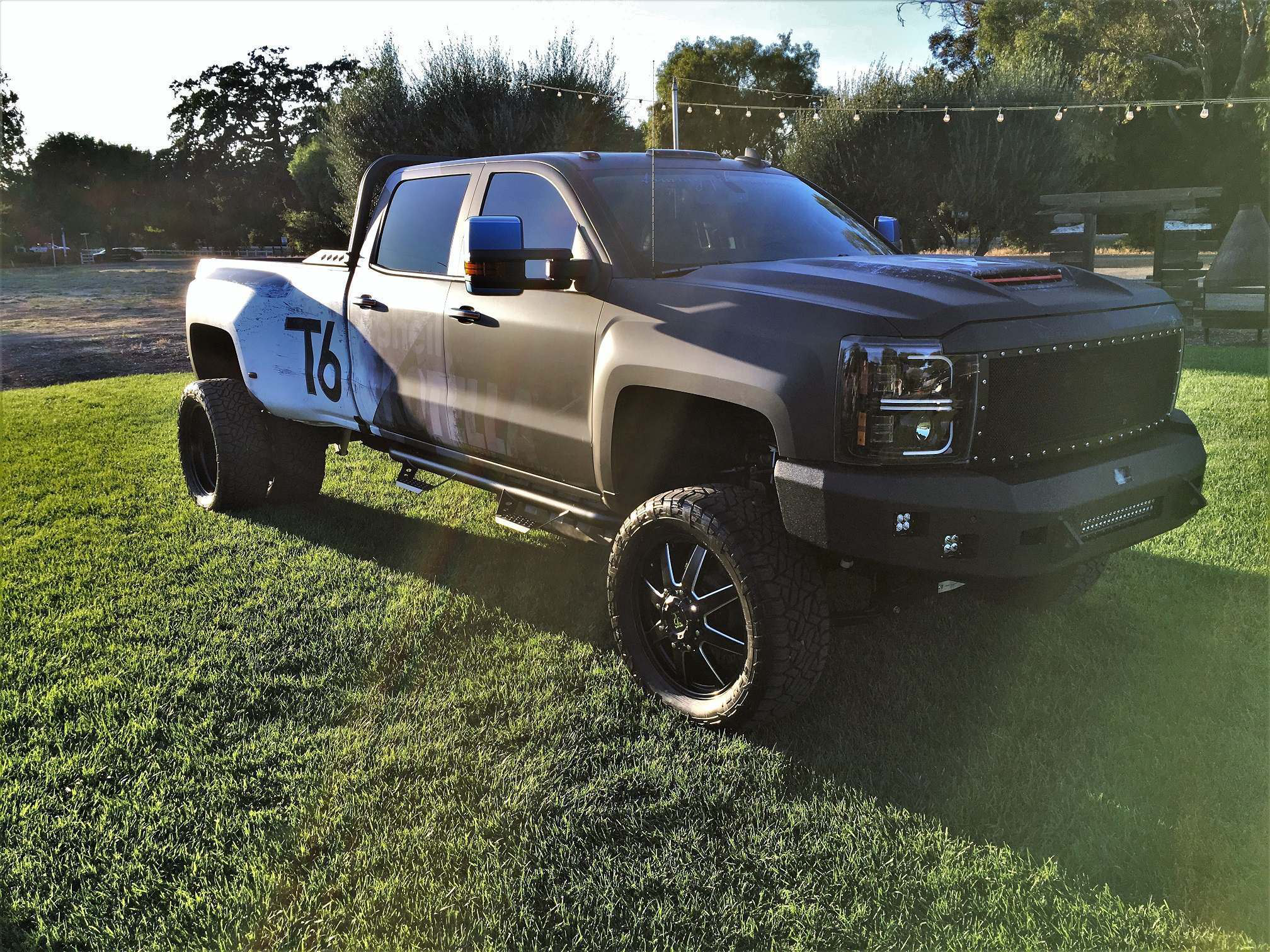 Shell, Tommy Pike team up on lifted Chevy 3500 dually, Ram ...