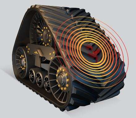 Continental Trackman uses microchip in track tread to