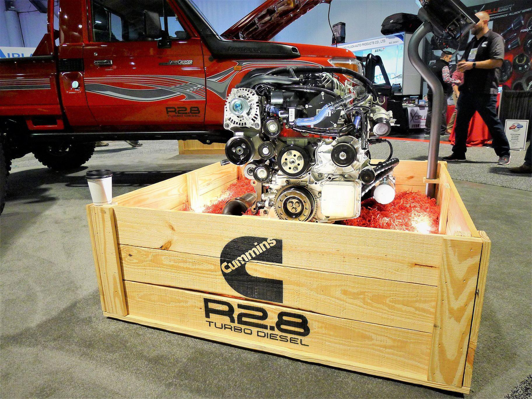 Cummins unveils its first crate engine the R2 8 Turbo Diesel