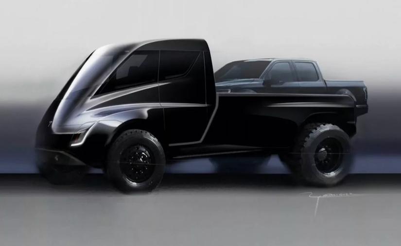 Tesla pickup truck concept art