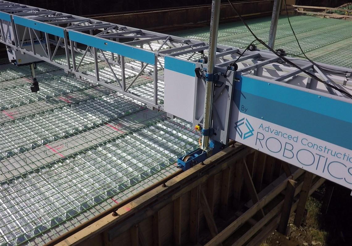 VIDEO: Tybot robot performs tedious job of tying rebar on