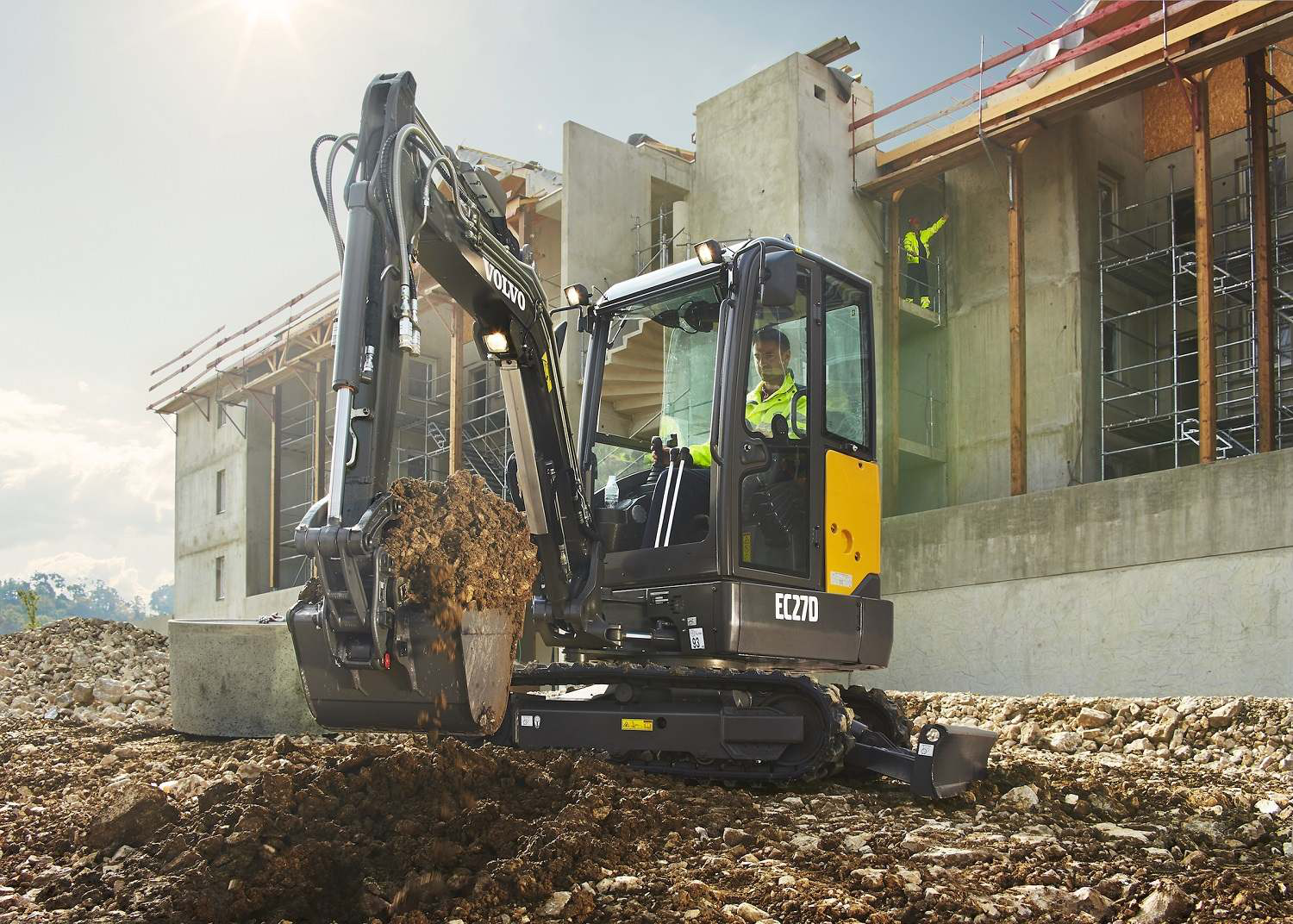 Volvo CE intros EC27D excavator: Short-swing size with more