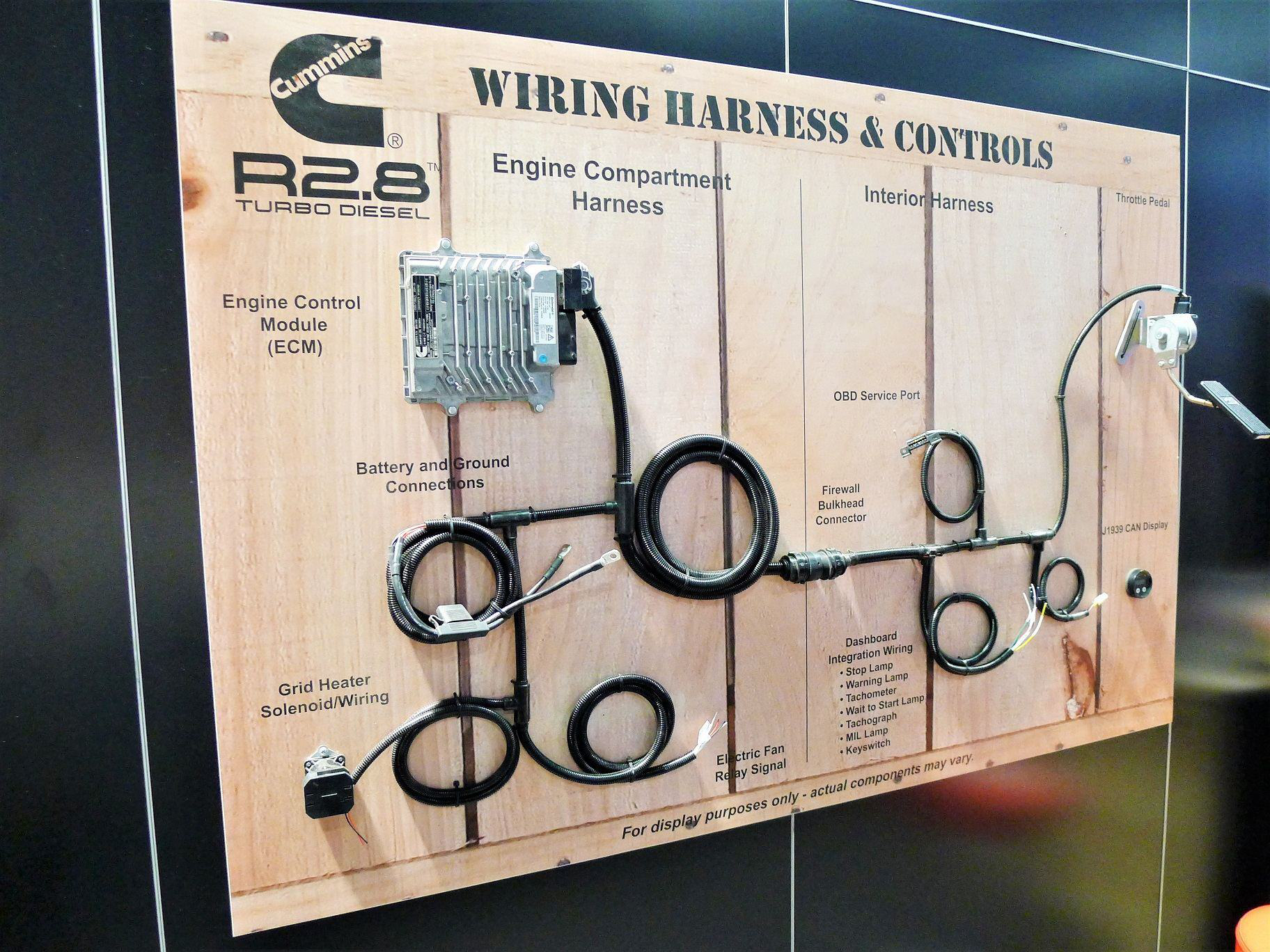 Cummins Unveils Its First Crate Engine The R28 Turbo Diesel Control Module Wiring Harness Connector But Company Is Not Ruling Out Addition Models Including Those With More Advanced Emissions Controls In Future