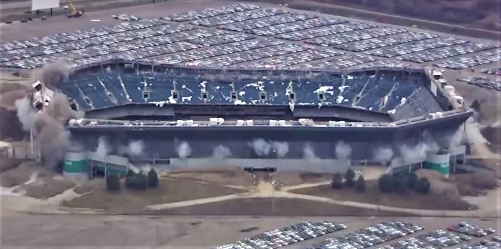 Video Partial Implosion Fails At Detroit S Silverdome