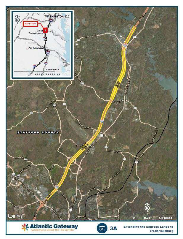 I 95 Express Lanes To Be Extended In Fredericksburg Va