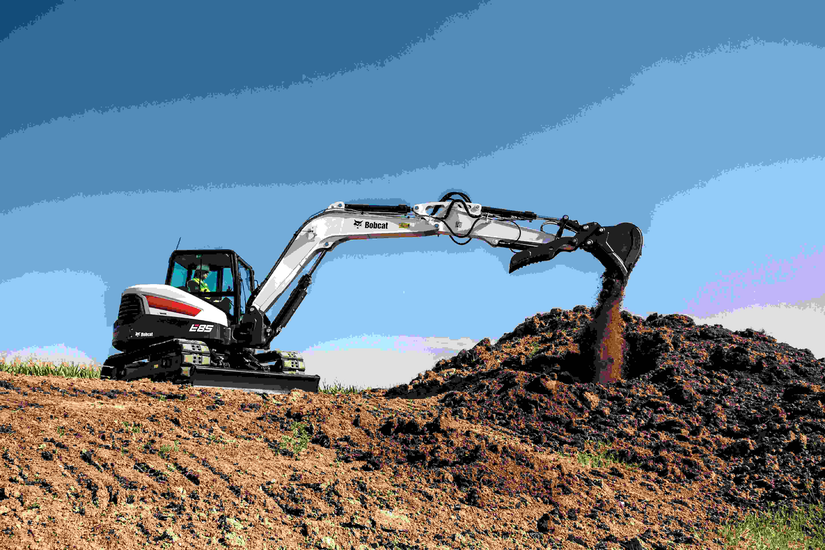Bobcat updates E85 excavator with more power, redesigned cab