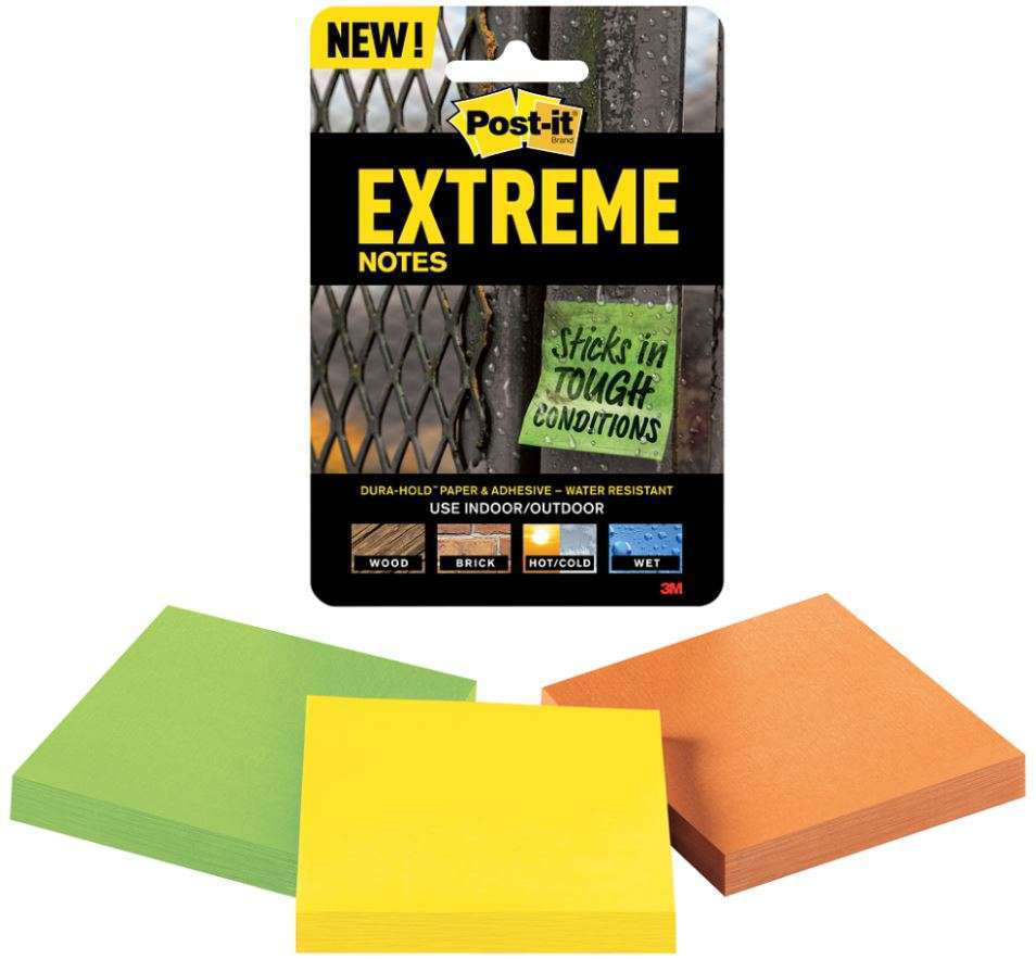 Post-it Extreme Notes designed with construction contractors