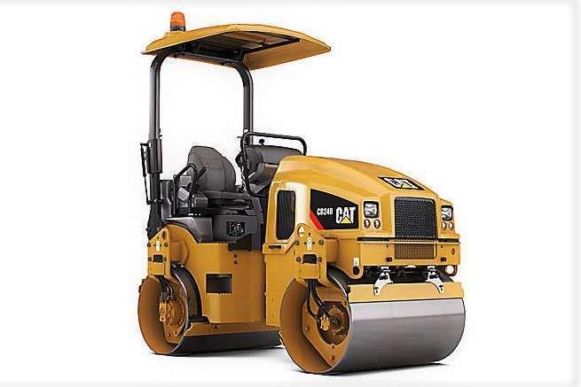 Cat CB24B double-drum compactor