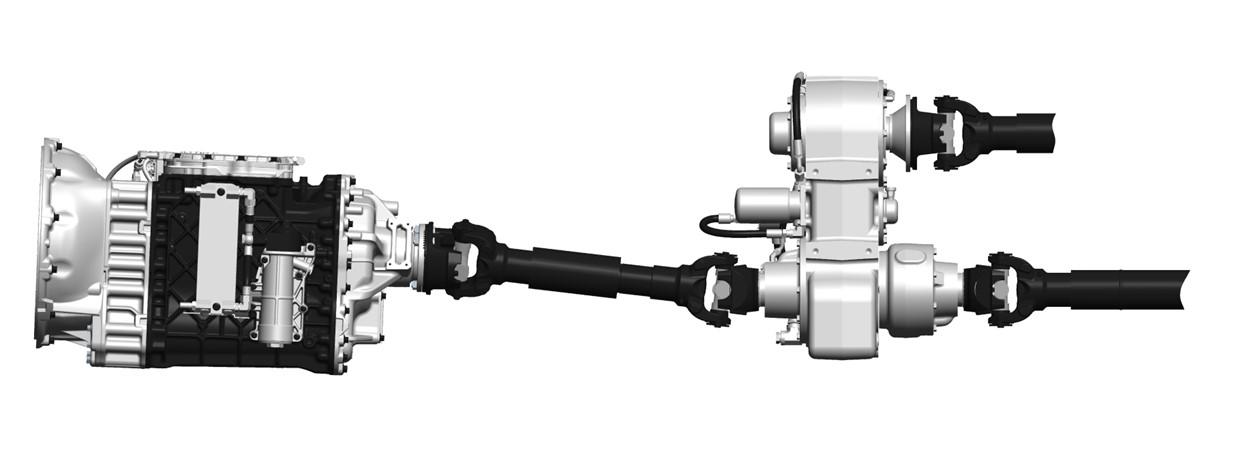 Heavy Truck Pto : Mack intros mdrive split shaft ptos that pump concrete