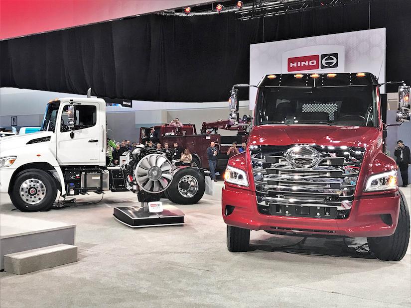 hino trucks on event show floor