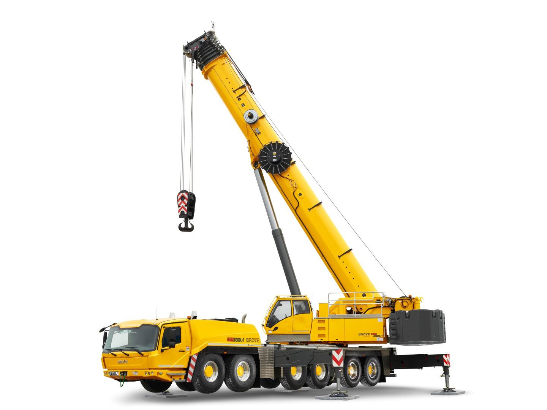 Manitowoc intros gmk6300l 1 all terrain crane with for Crane grove