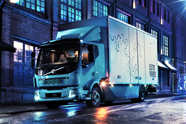 Volvo electric powered truck