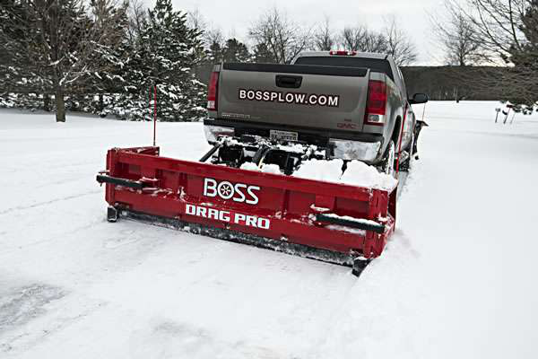 BOSS Snowplow's new Drag Pro plow for your pickup truck