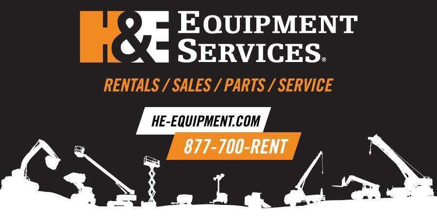 banner logo for H&E Equipment Services