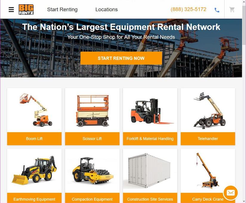 BIG RENTZ home page online
