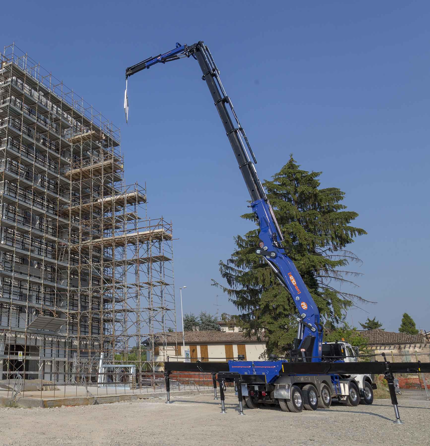 Manitex Crane working on construction project