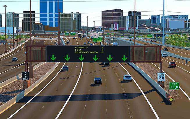 Nevada Department of Transportation rendering of Project Neon rendering